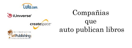 Compañias que auto publican libros